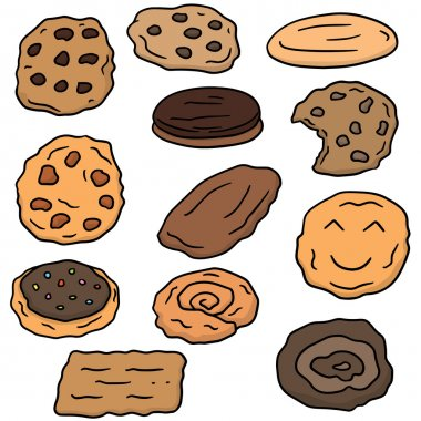 vector set of cookies