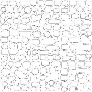 Vector set of speech bubbles clip art vector