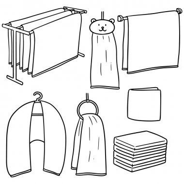 vector set of towel