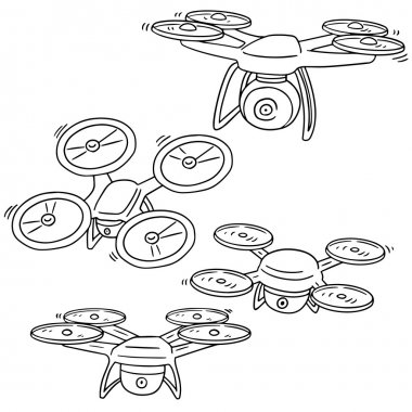 vector set of drone