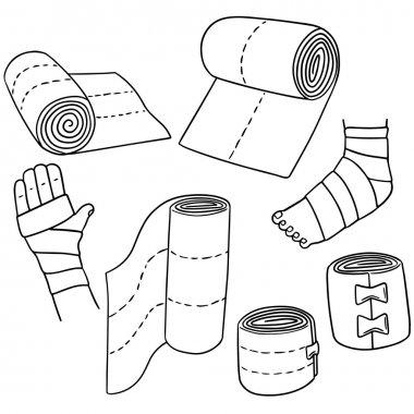 vector set of medical bandage