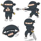 vektorové sada ninja