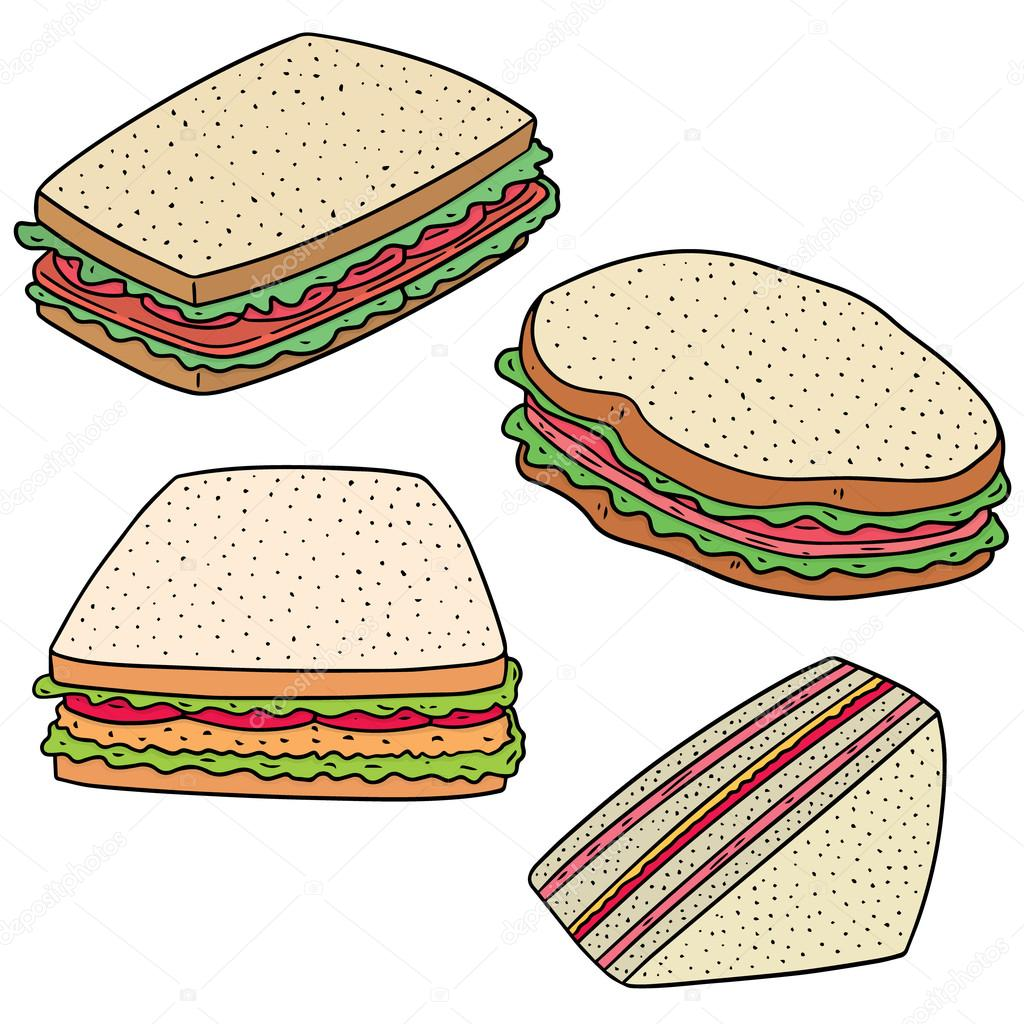 Vector Set Of Sandwich Stock Vector C Ourlifelooklikeballoon