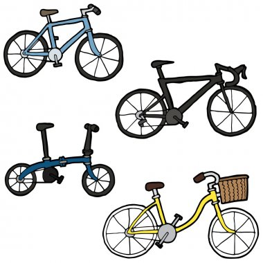 vector set of bicycle