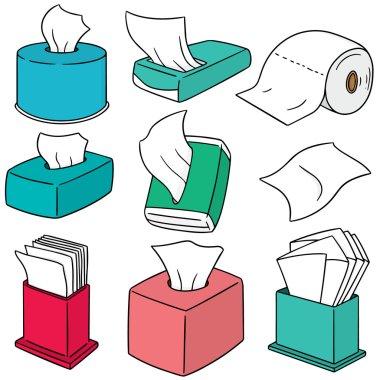 vector set of tissue paper