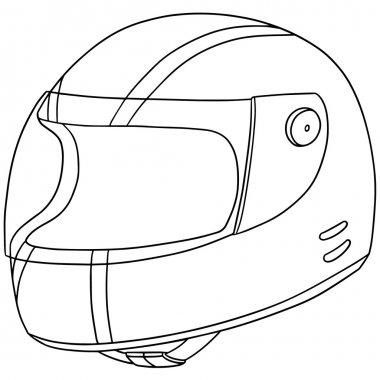 vector set of motorcycle helmet