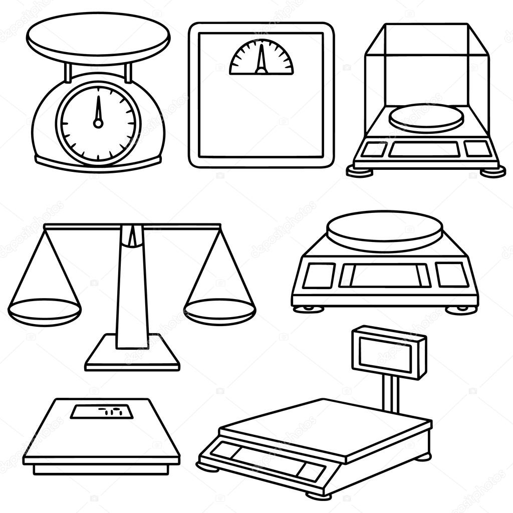 Vector Set Of Weighing Machine Stock Vector Image By Ourlifelooklikeballoon Hotmail Com 107426382