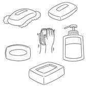 Fotografie vector set of soap