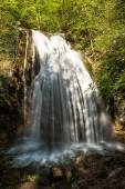 Waterfall Jur-Jur - the most affluent in Crimea