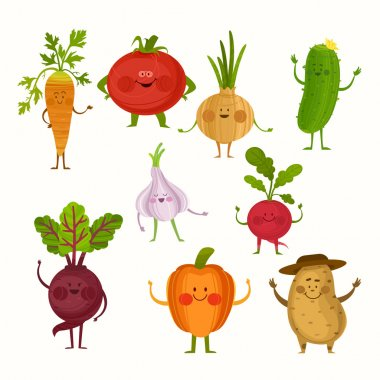 Illustration with funny characters