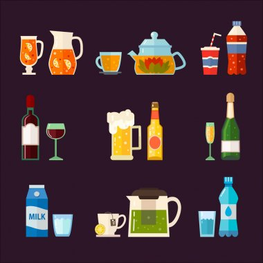 Alcoholic drinks and non alcoholic drinks