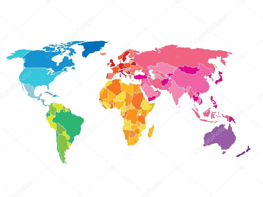 Political world map detailed of rainbow colors stock vector political world map detailed world map of rainbow colors vector by sergii19i gumiabroncs Image collections