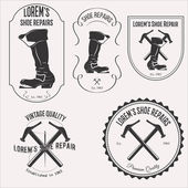Photo Shoe repair logo set