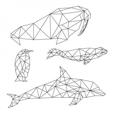 Geometric animal set