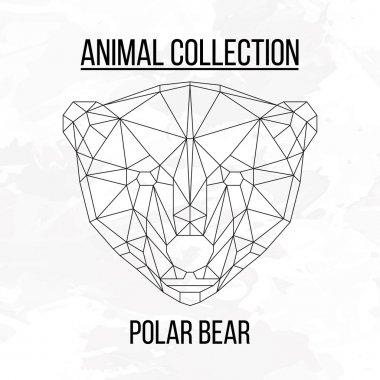 Geometric polar bear head