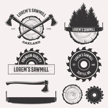Sawmill logo set