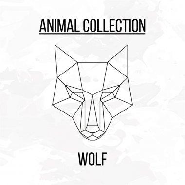 Geometric wolf head