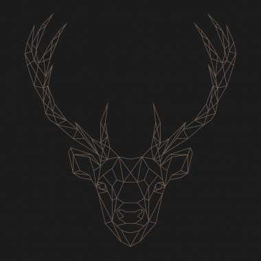Geometric Deer Free Vector Eps Cdr Ai Svg Vector Illustration Graphic Art