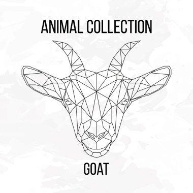 Geometric goat head