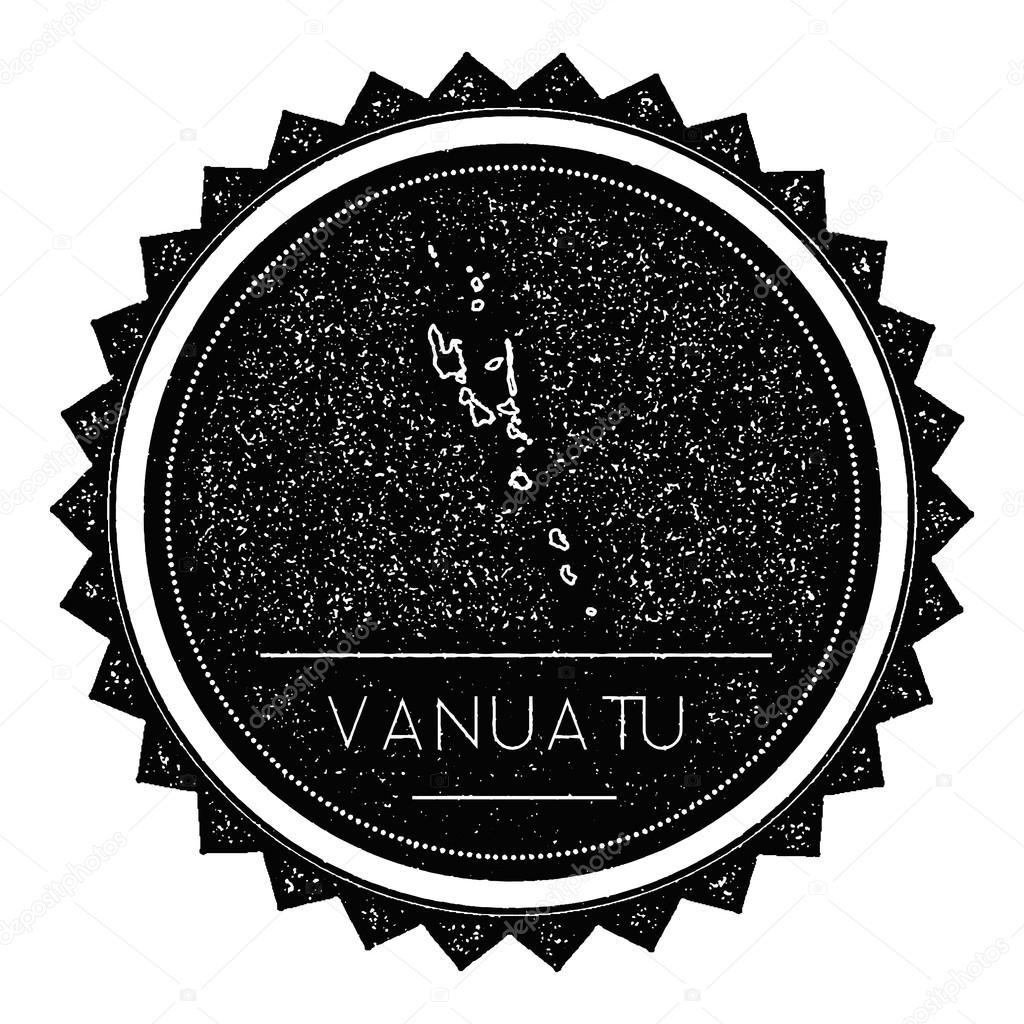 Vanuatu Map Label With Retro Vintage Styled Design Stock Vector - Vanuatu map download