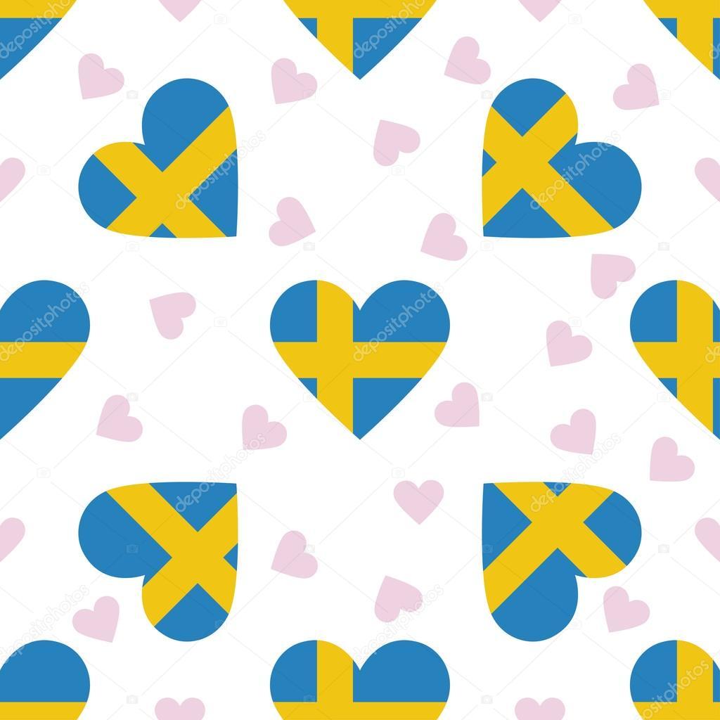 Patrón transparente de día de la independencia de Suecia — Vector de ...