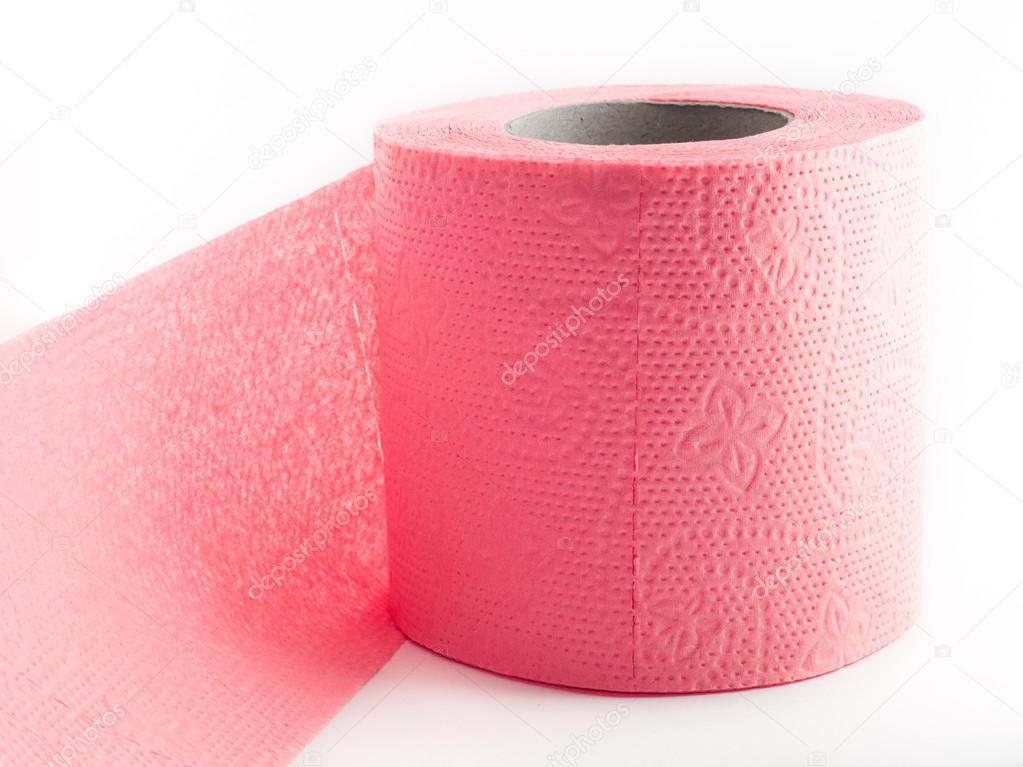 Rouleau De Papier Toilette Rose Photographie Serzh148 106596770