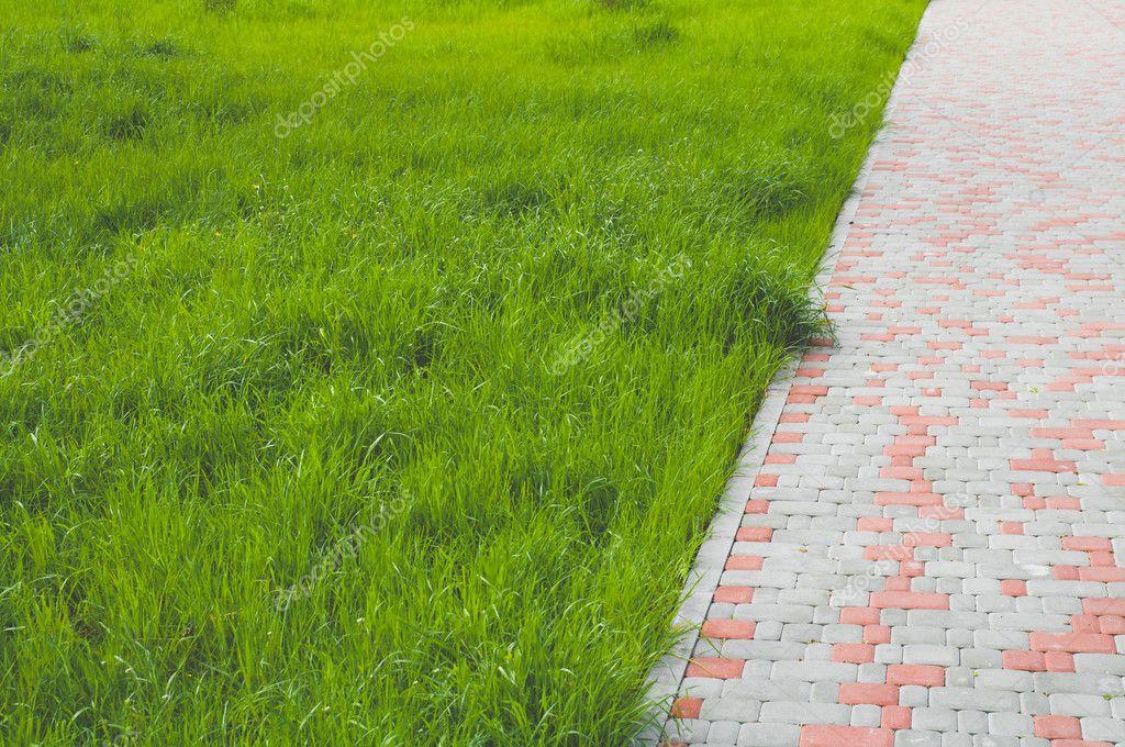 Prato e il percorso come abstract o sfondo u foto stock serzh