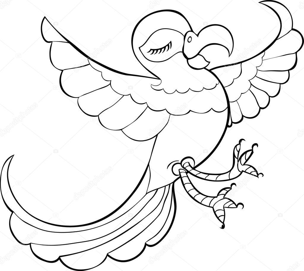 (Ücretsiz yazdırılabilir) Papağan Resmi Boyama