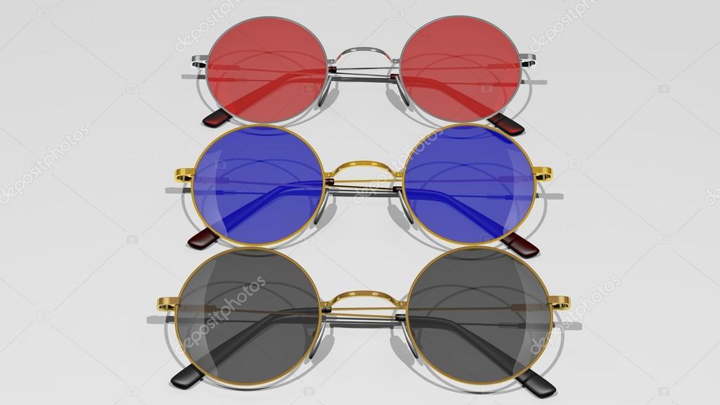 a79640c648e6d Óculos de sol com lentes de cor diferente