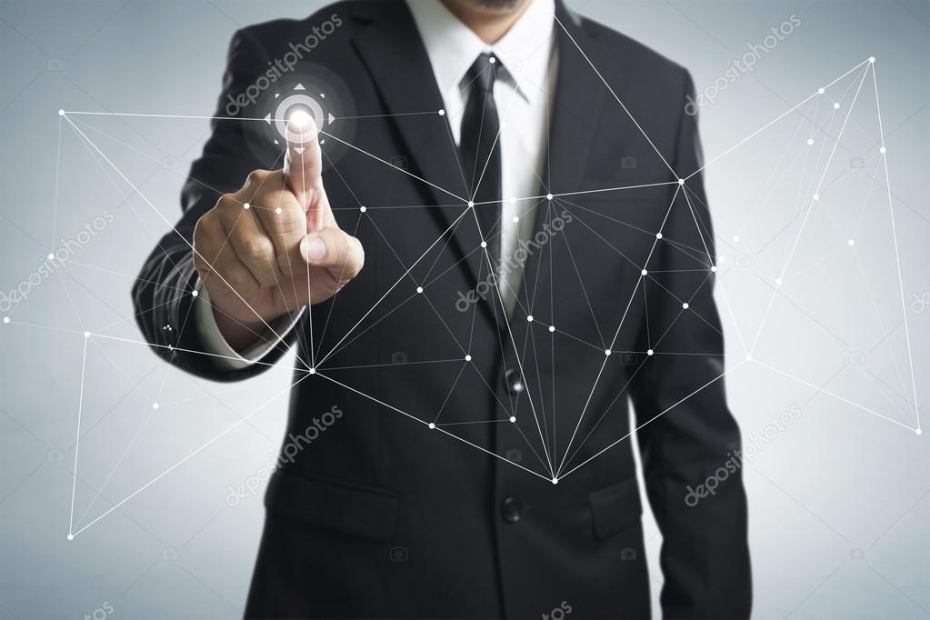 Businessman working with technology