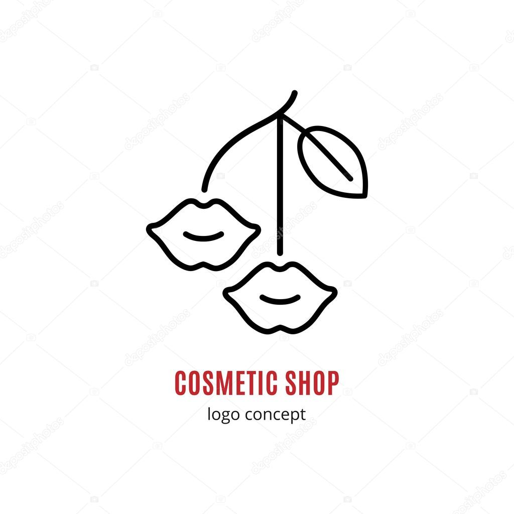 lips lipstick cosmetics and beauty logo concept � stock