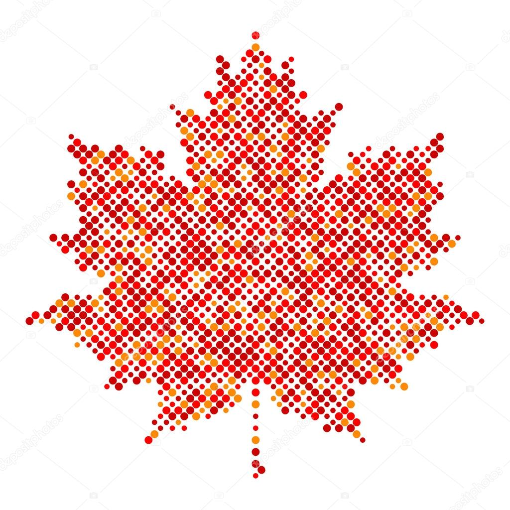 Maple leaf isolated dot abstract design symbol stock vector maple leaf isolated dot abstract design symbol stock vector buycottarizona Image collections