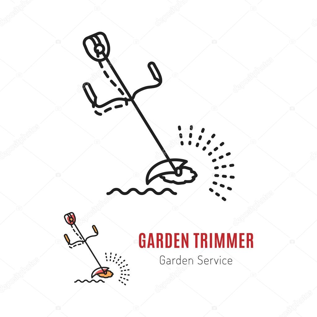 Line vector trimmer Gardening tools