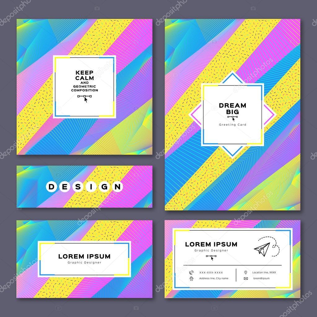 Kollektion Karten Einladung A4 Plakat Visitenkarte Flyer