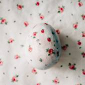 Fotografie Easter egg decorated with paper napkins