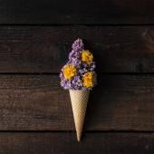 Kužel zmrzliny s fialová Lila