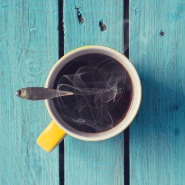 Hot fresh coffee or tea