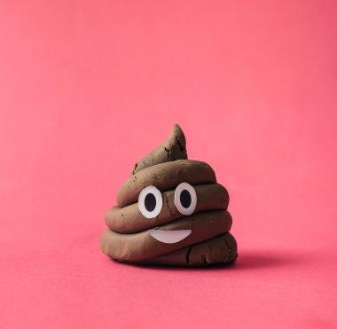 Funny poop emoticon