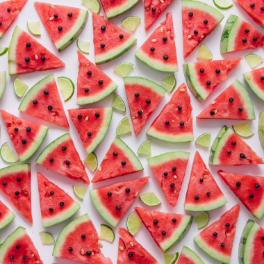 Watermelon and lime slices