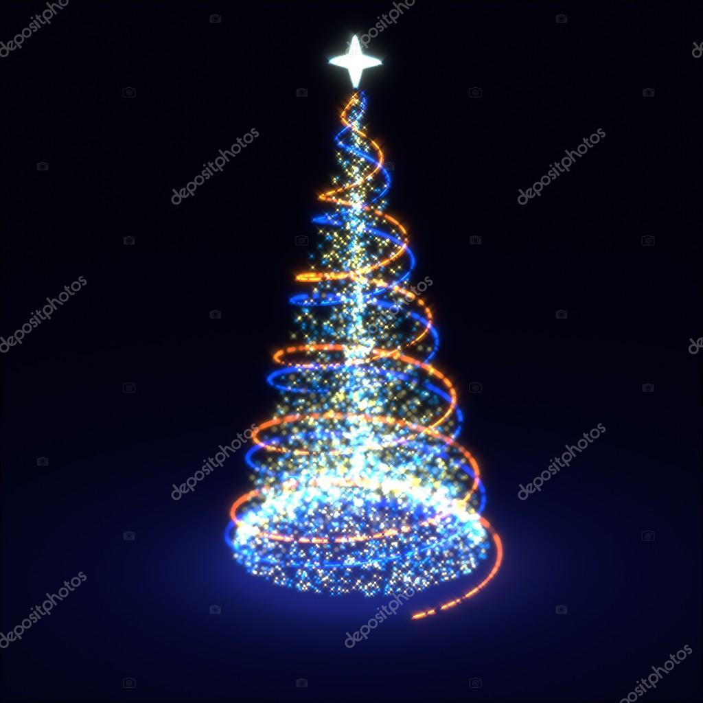 abstracte verlichting kerstboom foto van nevake