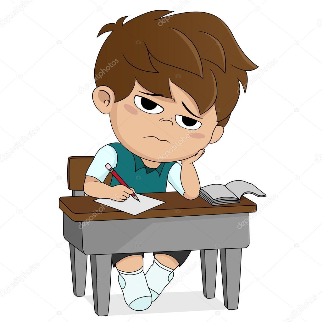 Animado: aburrido | niño aburrido sobre something.back a ...