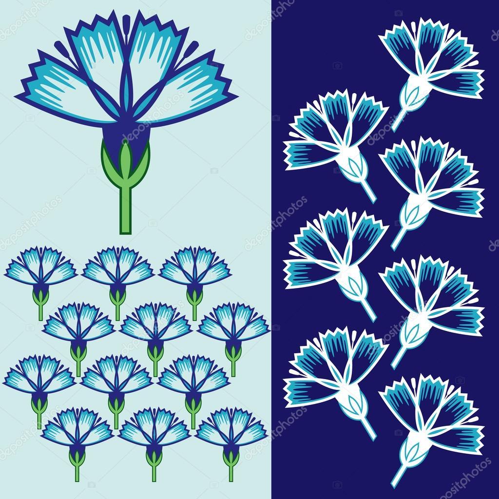 Kvetinova Fantazie Uvolnit Barvy Fantazie Grafic Tisk Vzorek Pozadi
