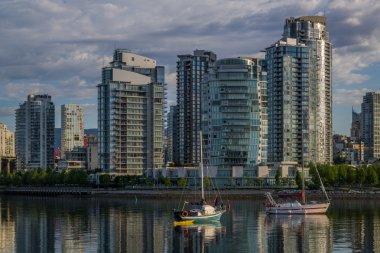 Vancouver, False Creek. An early morning. British Columbia, Canada.