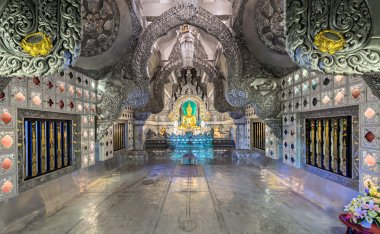 Silver Temple at the night in Chiang Mai, Thailand
