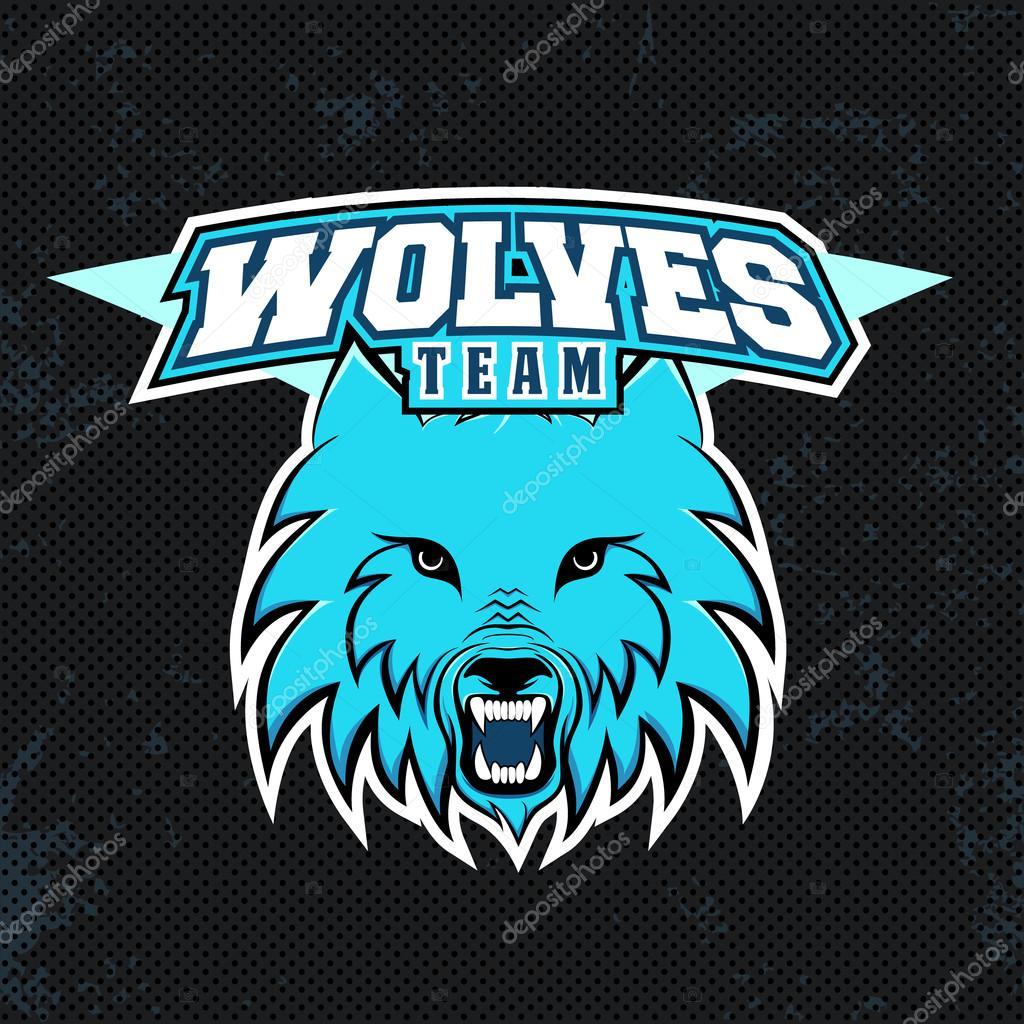 the best attitude 217d4 81047 Fotografie: logo lupo blu. Logo moderno di lupi blu per una ...