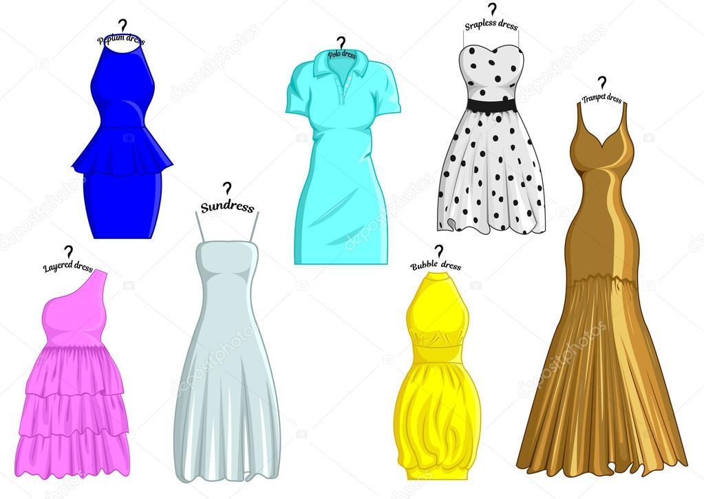Estilos De Vestidos Vector De Stock Scio21ukrnet