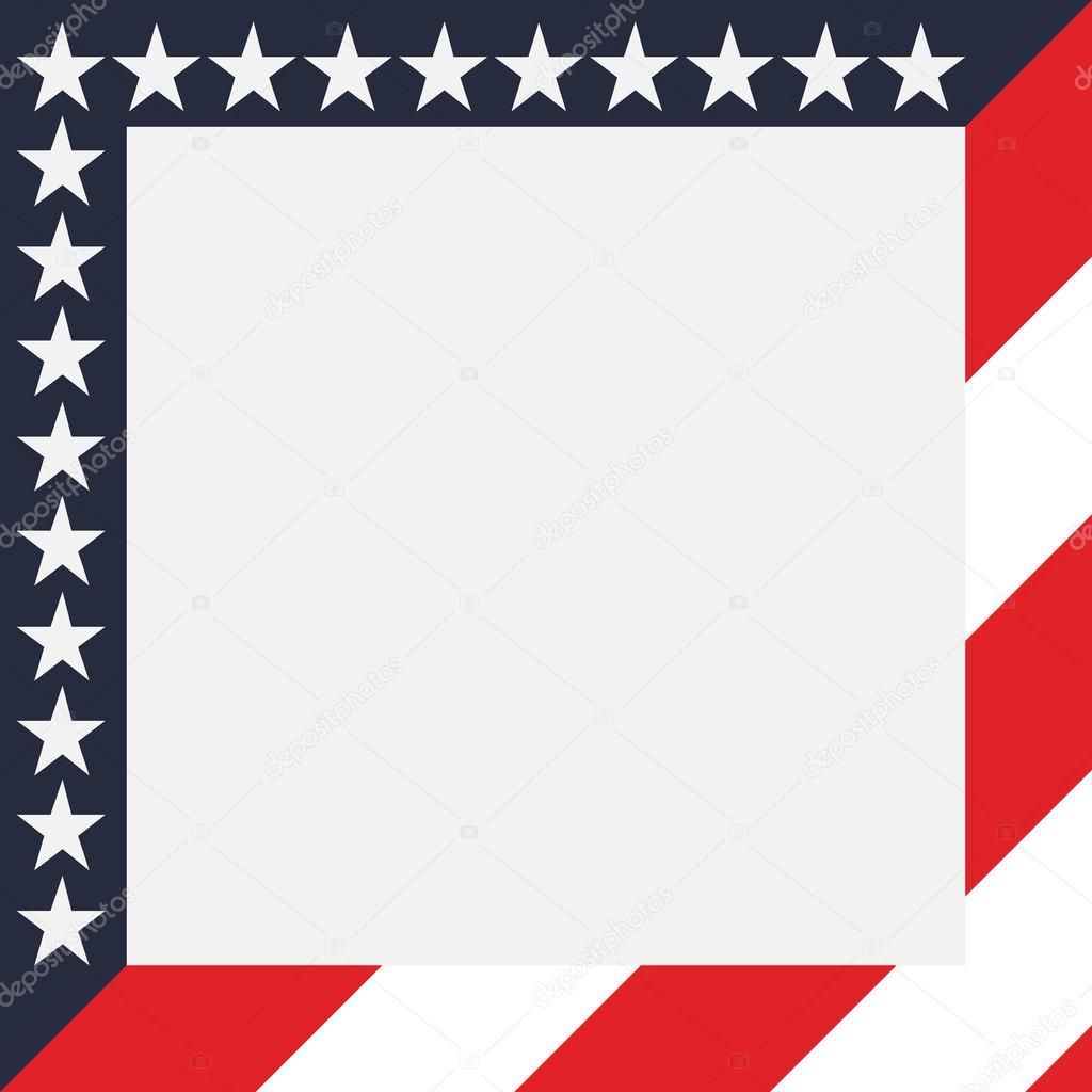 Amerikanische Flagge Rahmen — Stockvektor © olegpavlovich #113879456