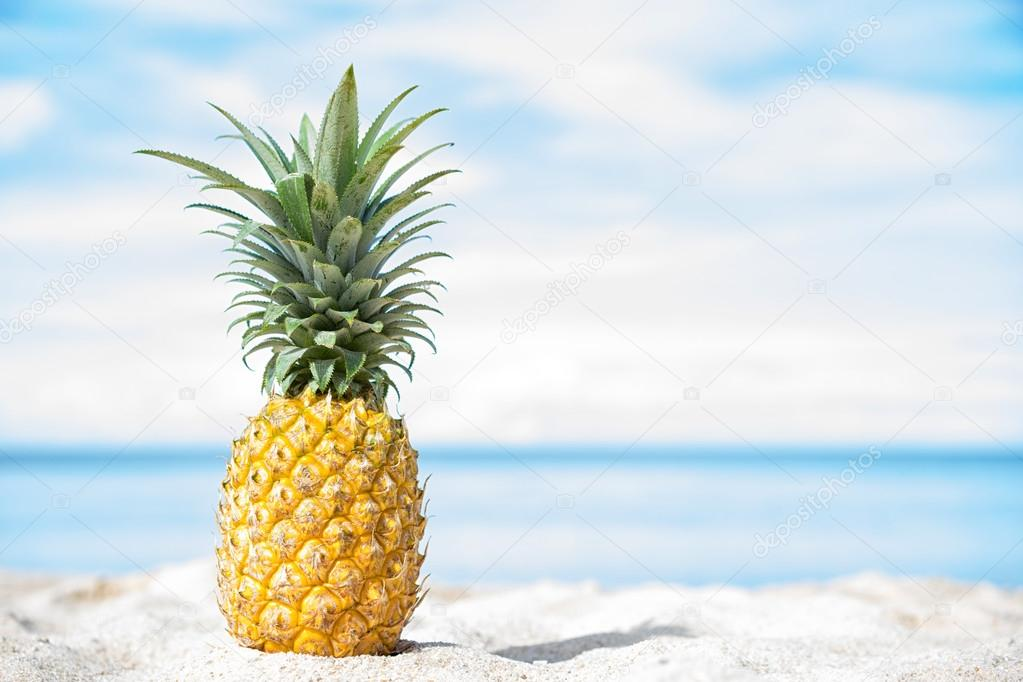 Pineapple At The Beach: Stock Photo © Upslim #104571348