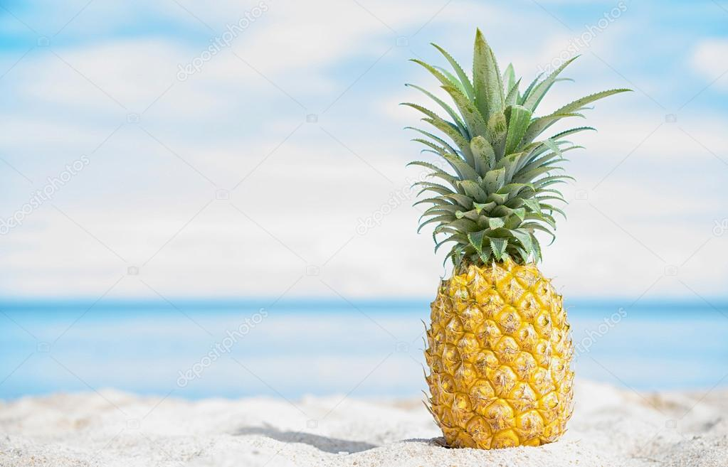 Pineapple At The Beach: Stock Photo © Upslim #105278946