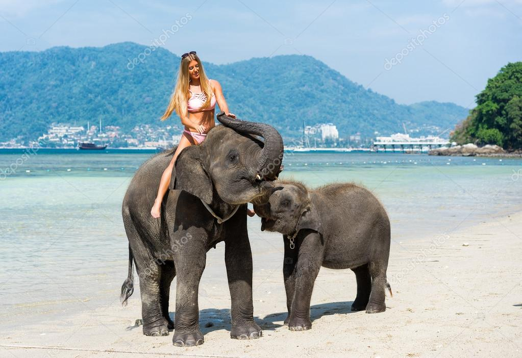 woman on elephant